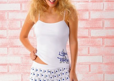 art 230 conj camiseta short  1 al 3 blanco coral