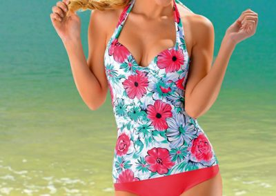 art 5009 tankini 4 al 6 color floreado blancocoral blancoesmeralda.
