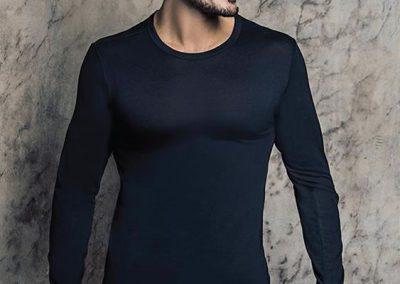 ART 1014 camiseta termica lisa S M L XL blanco negro