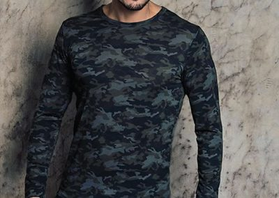 ART 1015 Camiseta termica estampada S M L XL color unico