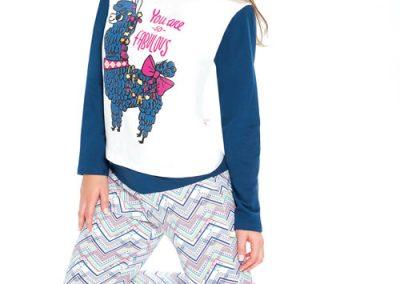 Art-2115-pijama-dama-jersey-estampa-teen-llama-colores-azul-lila-talles-S-M-L-XL