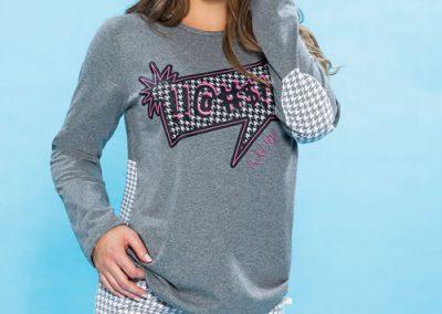 Art-2119-pijama-dama-jersey-estampa-Pied-de-Poule-colores-natural-azul-topo-blanco-talles-S-M-L-XL