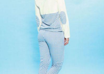 Art-2119-pijama-dama-jersey-estampa-Pied-de-Poule-colores-natural-azul-topo-blanco-talles-S-M-L-XL.
