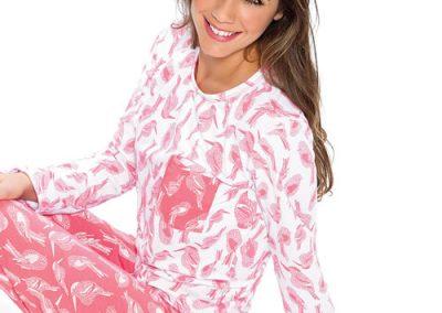 Art-2121-pijama-dama-modal-estampa-pajaros-colores-coral-negro-talles-S-M-L-XL-Especial-XXL