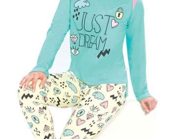 Art-2124-pijama-dama-jersey-estampado-just-dream-colores-acqua-amarillo-blanco-negro-talles-S-M-L-XL