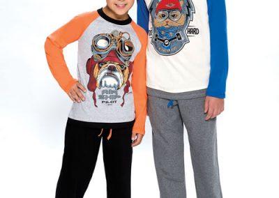 Art-442-pijama-nene-jersey-estampa-cat-dog-colores-naranja-azul-talles-2-al-12-Especial-14-al-16