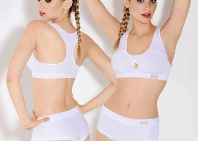 Art. 295 Conj. Deportivo con Boxer de algodón y lycra con tela deportiva. Talles85 a 105 Colores blanco negro gris