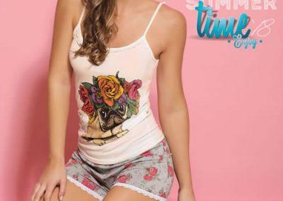Art-2127-Pijama-de-Dama-LITTLE-HIPPIE-Modal-Crudo-con-Gris-Blanco-con-Natural-Talle-S-M-L-XL.