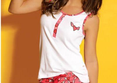 Art-2131-Pijama-de-Dama-CORAZON-Morley-y-Jersey-Blanco-Azul-Blanco-Talle-S-M-L-XL
