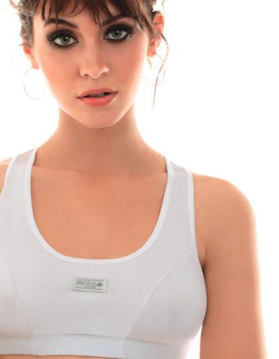 Art 230 Conj. Deportivo de algodón y lycra con Mini Boxer Colores Blanco Negro Gris melange gris topofucsia Talles 85 a 100