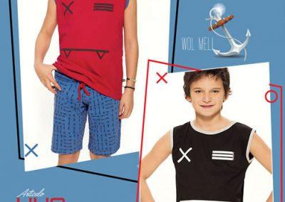 Art-440-Piijama-de-Niño-SIGNOS-jersey-Rojo-Azul-Negro-Azul-Talle-2-4-6-8-10-12