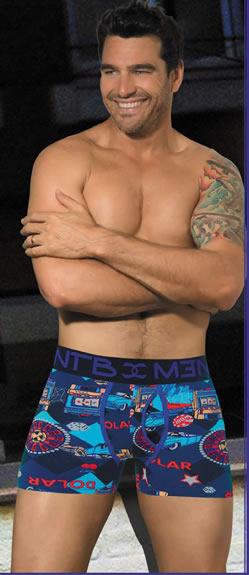 Art 98 boxer algodon lycra abertura estampado con vivos a contra tono y elastico personalizado S a XXL color unico